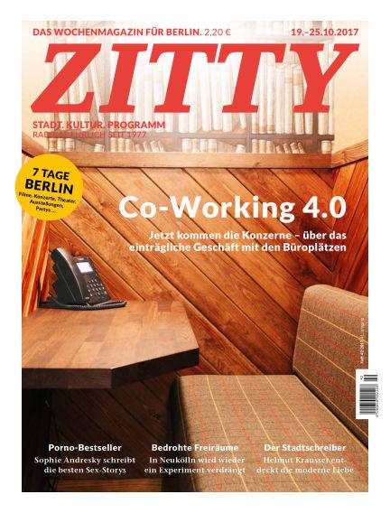 ZITTY Das Berlin-Magazin für 14 Tage und die Nächte October 17, 2017 00:00