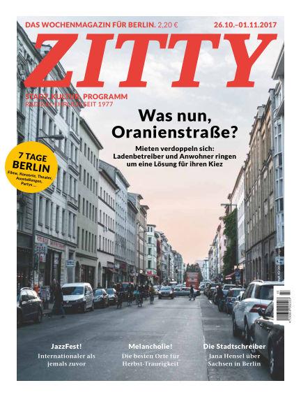 ZITTY Das Berlin-Magazin für 14 Tage und die Nächte October 24, 2017 00:00