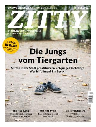 ZITTY Das Berlin-Magazin für 14 Tage und die Nächte 44/2017