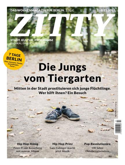 ZITTY Das Berlin-Magazin für 14 Tage und die Nächte November 01, 2017 00:00