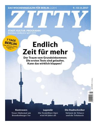 ZITTY Das Berlin-Magazin für 14 Tage und die Nächte 45/2017