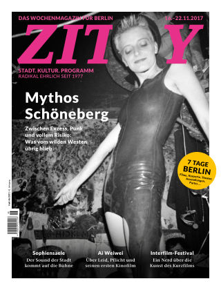 ZITTY Das Berlin-Magazin für 14 Tage und die Nächte 46/2017