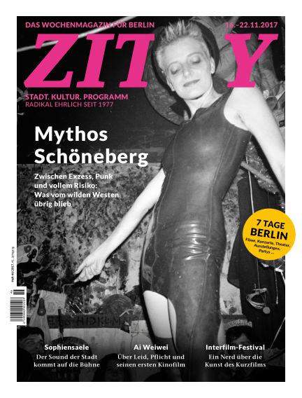 ZITTY Das Berlin-Magazin für 14 Tage und die Nächte November 14, 2017 00:00