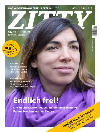 ZITTY Das Berlin-Magazin für 14 Tage und die Nächte 48/2017
