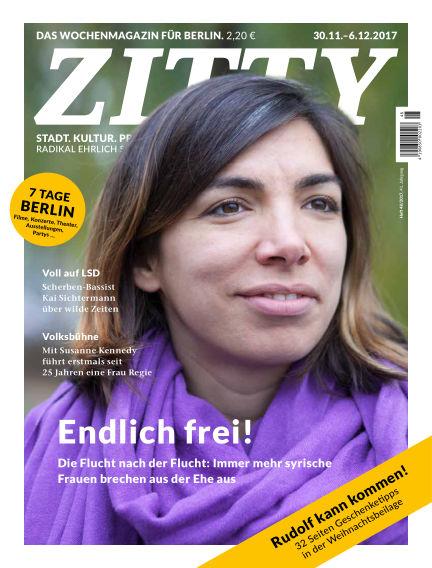 ZITTY Das Berlin-Magazin für 14 Tage und die Nächte November 28, 2017 00:00