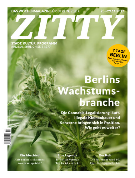 ZITTY Das Berlin-Magazin für 14 Tage und die Nächte November 21, 2017 00:00