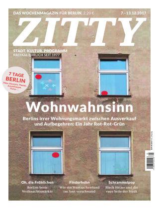 ZITTY Das Berlin-Magazin für 14 Tage und die Nächte 49/2017