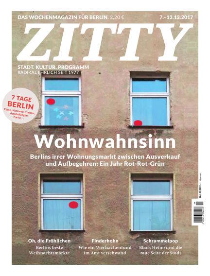 ZITTY Das Berlin-Magazin für 14 Tage und die Nächte December 05, 2017 00:00