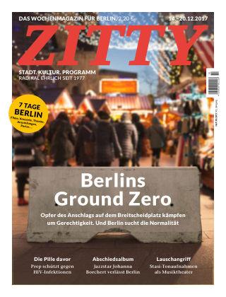 ZITTY Das Berlin-Magazin für 14 Tage und die Nächte 50/2017
