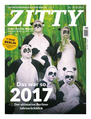 ZITTY Das Berlin-Magazin für 14 Tage und die Nächte 51/2017