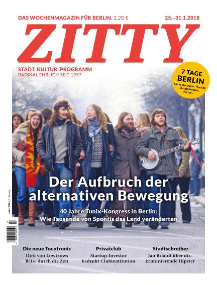 ZITTY Das Berlin-Magazin für 14 Tage und die Nächte January 23, 2018 00:00