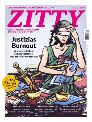 ZITTY Das Berlin-Magazin für 14 Tage und die Nächte 5/2018