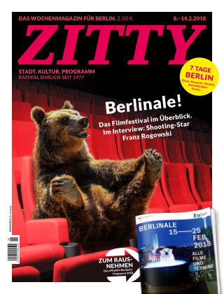 ZITTY Das Berlin-Magazin für 14 Tage und die Nächte 6/2018