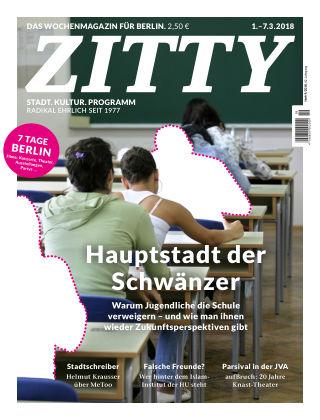ZITTY Das Berlin-Magazin für 14 Tage und die Nächte 9/2018