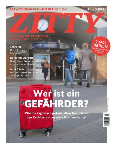 ZITTY Das Berlin-Magazin für 14 Tage und die Nächte March 06, 2018 00:00