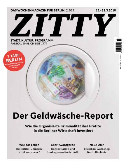 ZITTY Das Berlin-Magazin für 14 Tage und die Nächte March 13, 2018 00:00