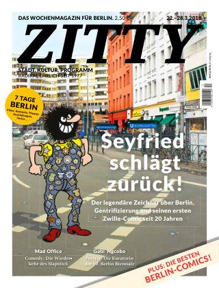ZITTY Das Berlin-Magazin für 14 Tage und die Nächte 12/2018
