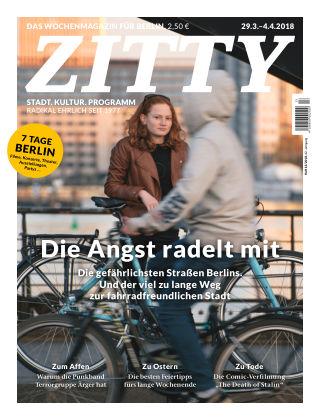 ZITTY Das Berlin-Magazin für 14 Tage und die Nächte 13/2018