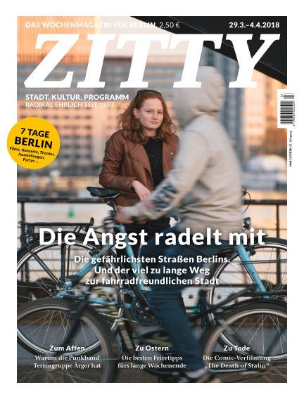 ZITTY Das Berlin-Magazin für 14 Tage und die Nächte March 27, 2018 00:00
