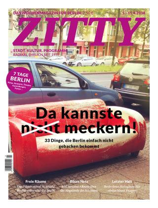 ZITTY Das Berlin-Magazin für 14 Tage und die Nächte 14/2018