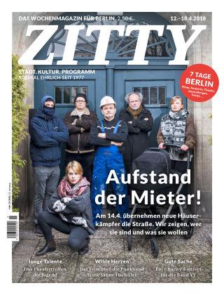 ZITTY Das Berlin-Magazin für 14 Tage und die Nächte 15/2018