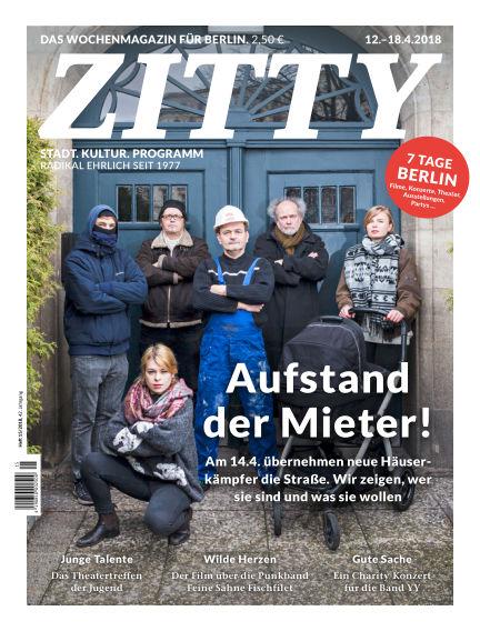 ZITTY Das Berlin-Magazin für 14 Tage und die Nächte April 10, 2018 00:00