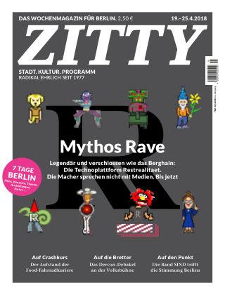ZITTY Das Berlin-Magazin für 14 Tage und die Nächte 16/2018