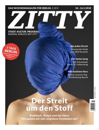 ZITTY Das Berlin-Magazin für 14 Tage und die Nächte 19/2018