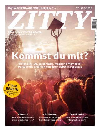 ZITTY Das Berlin-Magazin für 14 Tage und die Nächte 20/2018