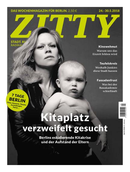 ZITTY Das Berlin-Magazin für 14 Tage und die Nächte May 22, 2018 00:00
