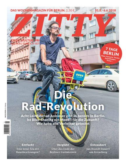 ZITTY Das Berlin-Magazin für 14 Tage und die Nächte May 29, 2018 00:00