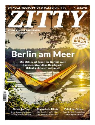 ZITTY Das Berlin-Magazin für 14 Tage und die Nächte 23/2018
