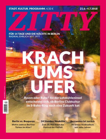 ZITTY Das Berlin-Magazin für 14 Tage und die Nächte June 19, 2018 00:00