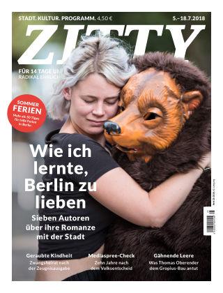 ZITTY Das Berlin-Magazin für 14 Tage und die Nächte 25/2018