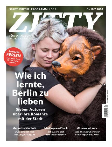 ZITTY Das Berlin-Magazin für 14 Tage und die Nächte July 03, 2018 00:00