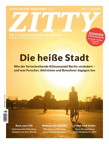 ZITTY Das Berlin-Magazin für 14 Tage und die Nächte July 18, 2018 00:00