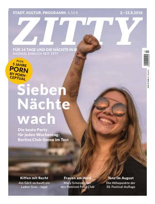 ZITTY Das Berlin-Magazin für 14 Tage und die Nächte 27/2018