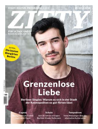 ZITTY Das Berlin-Magazin für 14 Tage und die Nächte 28/2018