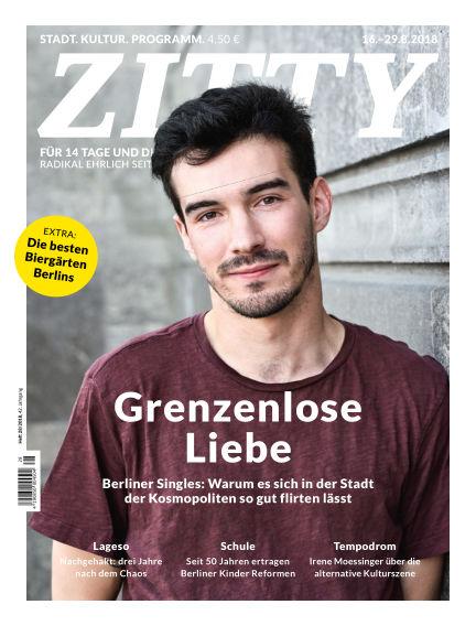 ZITTY Das Berlin-Magazin für 14 Tage und die Nächte August 15, 2018 00:00
