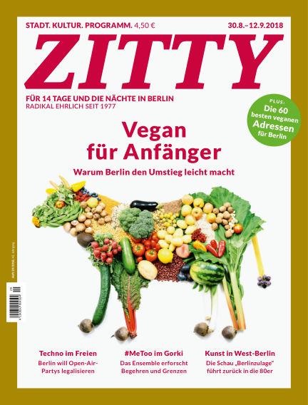 ZITTY Das Berlin-Magazin für 14 Tage und die Nächte August 29, 2018 00:00