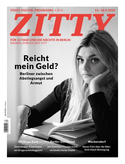 ZITTY Das Berlin-Magazin für 14 Tage und die Nächte September 11, 2018 00:00