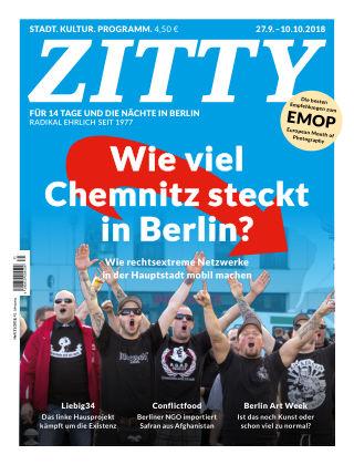 ZITTY Das Berlin-Magazin für 14 Tage und die Nächte 31/2018