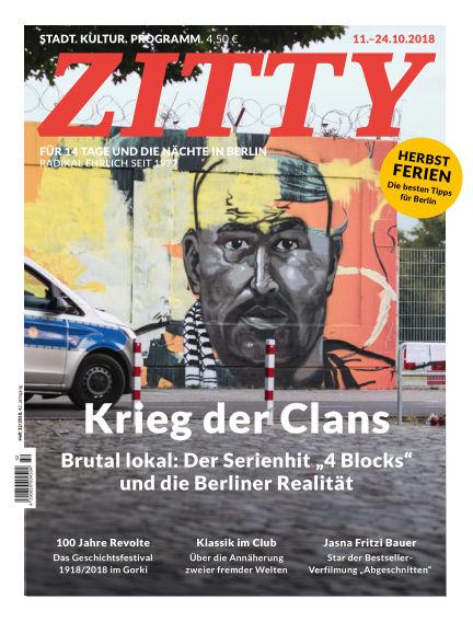 ZITTY Das Berlin-Magazin für 14 Tage und die Nächte October 10, 2018 00:00