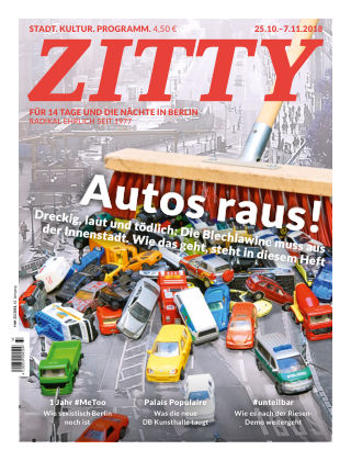ZITTY Das Berlin-Magazin für 14 Tage und die Nächte 33/2018
