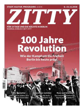 ZITTY Das Berlin-Magazin für 14 Tage und die Nächte 34/2018