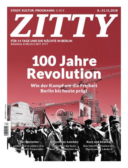 ZITTY Das Berlin-Magazin für 14 Tage und die Nächte November 07, 2018 00:00