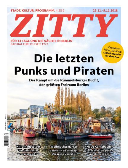 ZITTY Das Berlin-Magazin für 14 Tage und die Nächte November 21, 2018 00:00