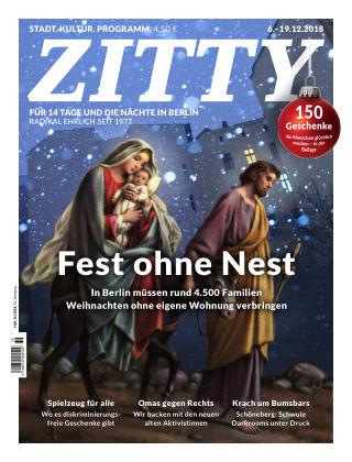 ZITTY Das Berlin-Magazin für 14 Tage und die Nächte 36/2018