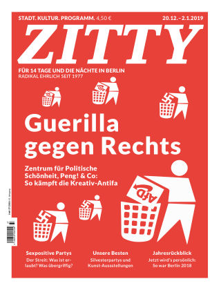 ZITTY Das Berlin-Magazin für 14 Tage und die Nächte 37/2018