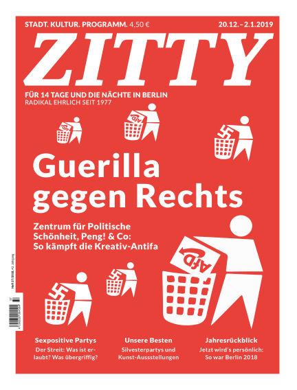 ZITTY Das Berlin-Magazin für 14 Tage und die Nächte December 19, 2018 00:00